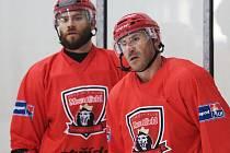 Trénink hokejistů královéhradeckého týmu Mountfield HK v rámci letní přípravy před startem nové extraligové sezony.
