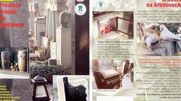 Prevence krádeží na hřbitovech.