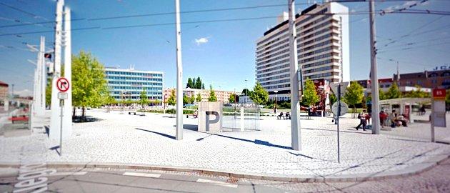 Vizualizace podzemního cyklodomu uvlakového nádraží vHradci Králové.