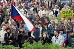 Demonstrace zemědělců v Chlumci.