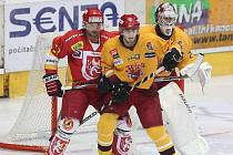 I. hokejová liga: HC VCES Hradec Králové - HC Dukla Jihlava.