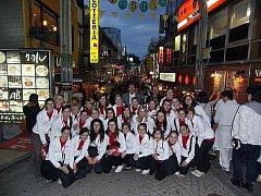 Královéhradecký dětský sbor JITRO na snímku z Tokia.