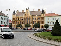 Centrum města Nový Bydžov. Ilustrační fotografie.