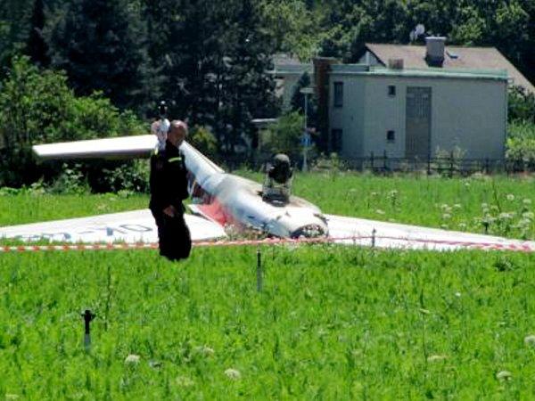 Havárie ultralehkého letadla uSvinar.