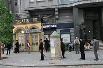 Natáčení filmu Sarajevo v centru Hradce Králové.