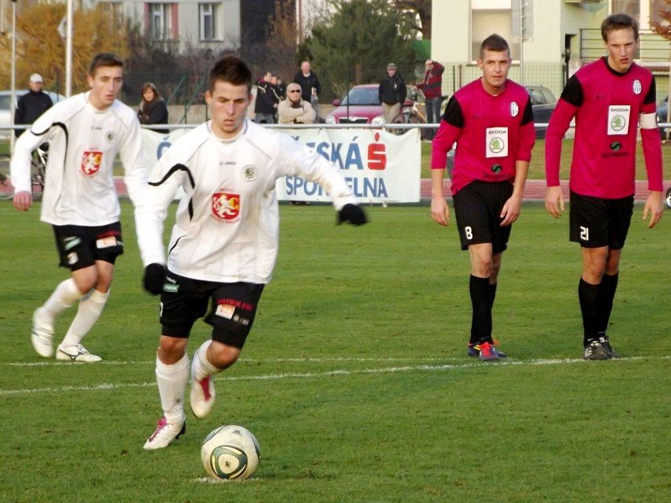 Juniorská fotbalová liga: FC Hradec Králové - FK Mladá Boleslav.