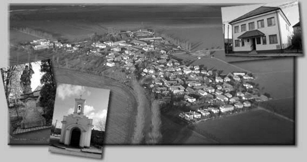 """Místní jméno vzniklo nejspíše z německého jména Homburg, a to zkomolením z """"hohen Burg"""" (""""na vysokém hradě""""). Obcí protéká řeka Cidlina a v okolí se nachází několik rybníků."""