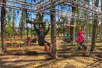 Gladiator race aréna v Hradci Králové je k dispozici nejenom závodníkům, ale třeba také rodinám s dětmi.