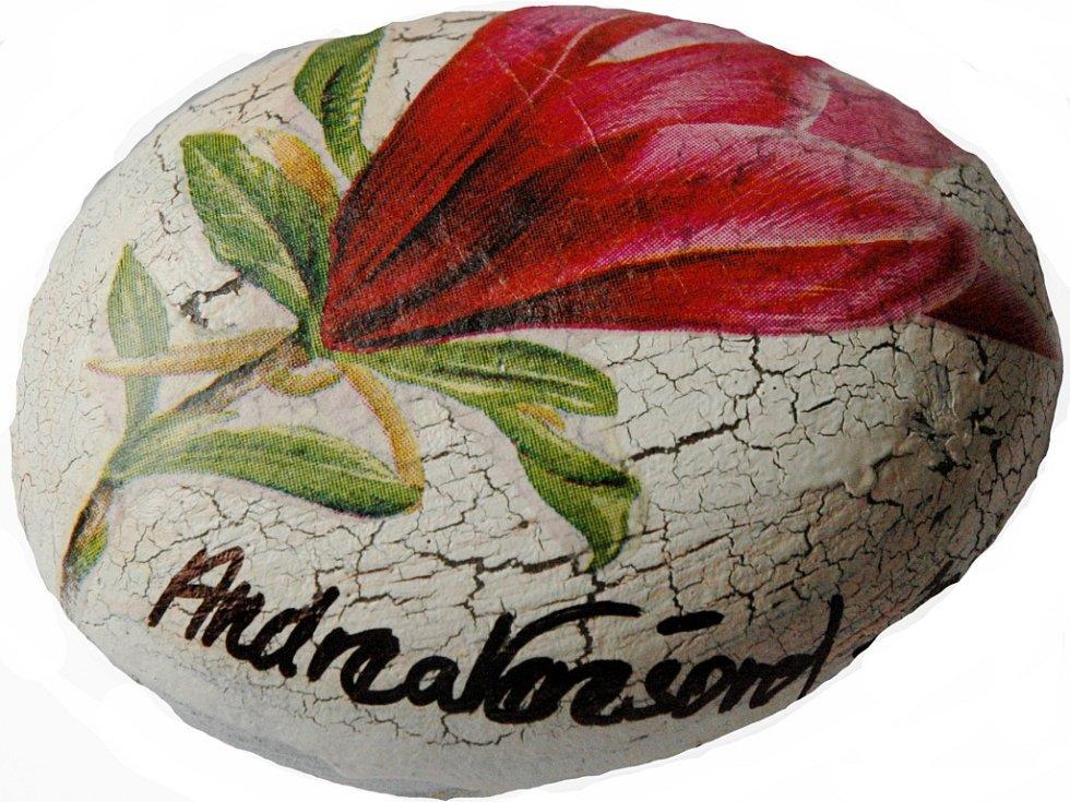Omalovaný kamínek: Andrea Verešová.