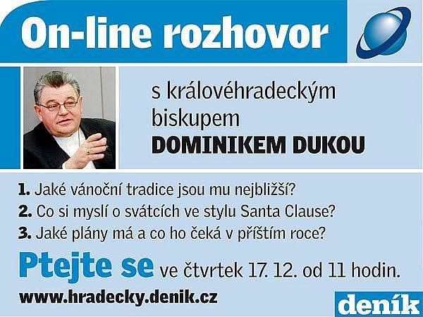 On-line rozhovor s biskupem Dominikem Dukou.