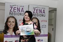 Prestižní ocenění Žena regionu v rámci Královéhradeckého kraje.