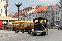 Hradecký vláček pro turisty.