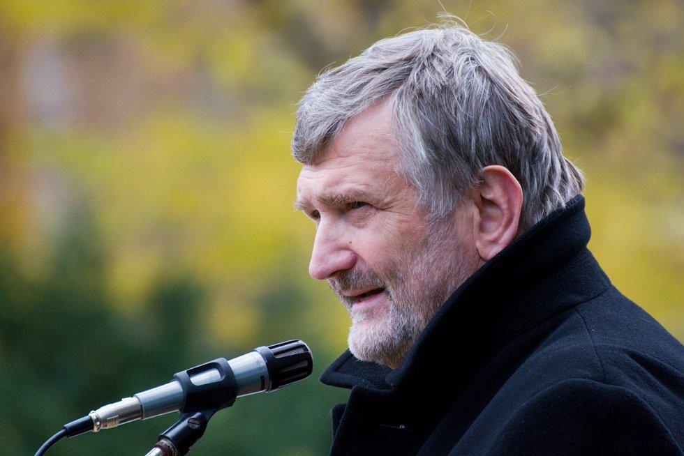 Rodiště velitele Baria Náměšť nad Oslavou reprezentoval starosta Vladimír Měrka