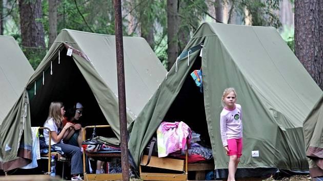 Netradiční letní tábor pro děti poblíž Hradce Králové.