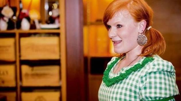 Kateřina Konečná při soutěži Miss Full Of Beauty.