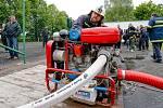Posvěcení praporu u příležitosti oslav 135 let od vzniku dobrovolných hasičů v Nepasicích.
