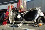 Hromadná dopravní nehoda u Lhoty pod Libčany.