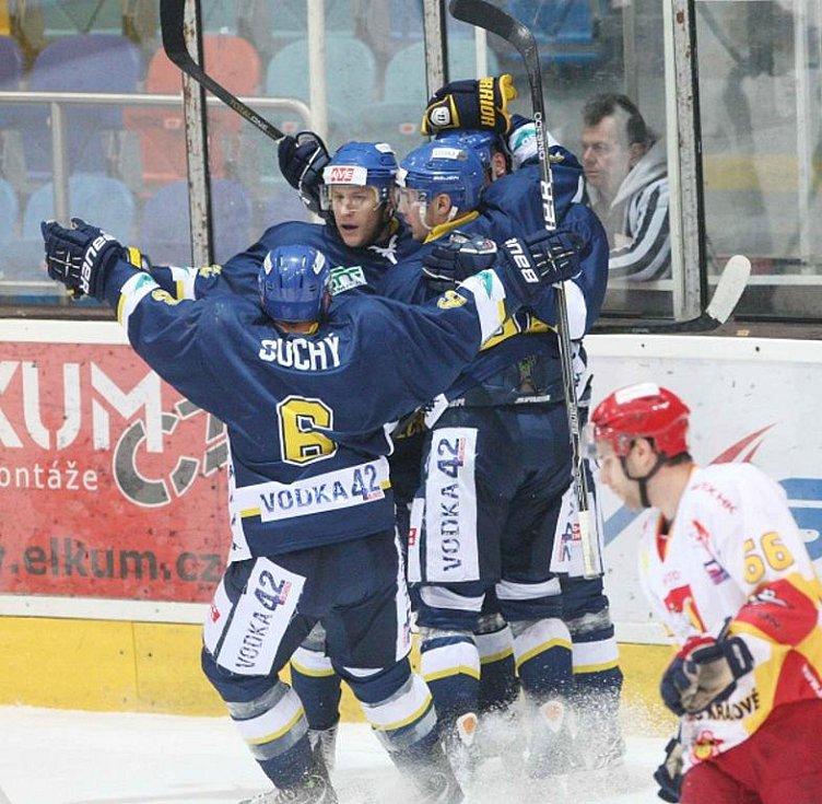 I. hokejová liga: HC VCES Hradec Králové - HC Slovan Ústečtí Lvi.