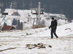 Zima na horách na Královéhradecku.