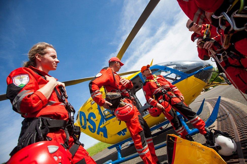 Cvičení složek IZS v rámci Helicopter Show v Hradci Králové.