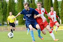 Krajský přebor ve fotbale: TJ Dobruška - FC Slavia Hradec Králové.