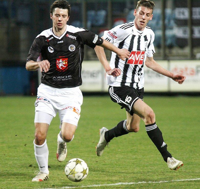 Fotbalová národní liga: SK Dynamo České Budějovice - FC Hradec Králové.