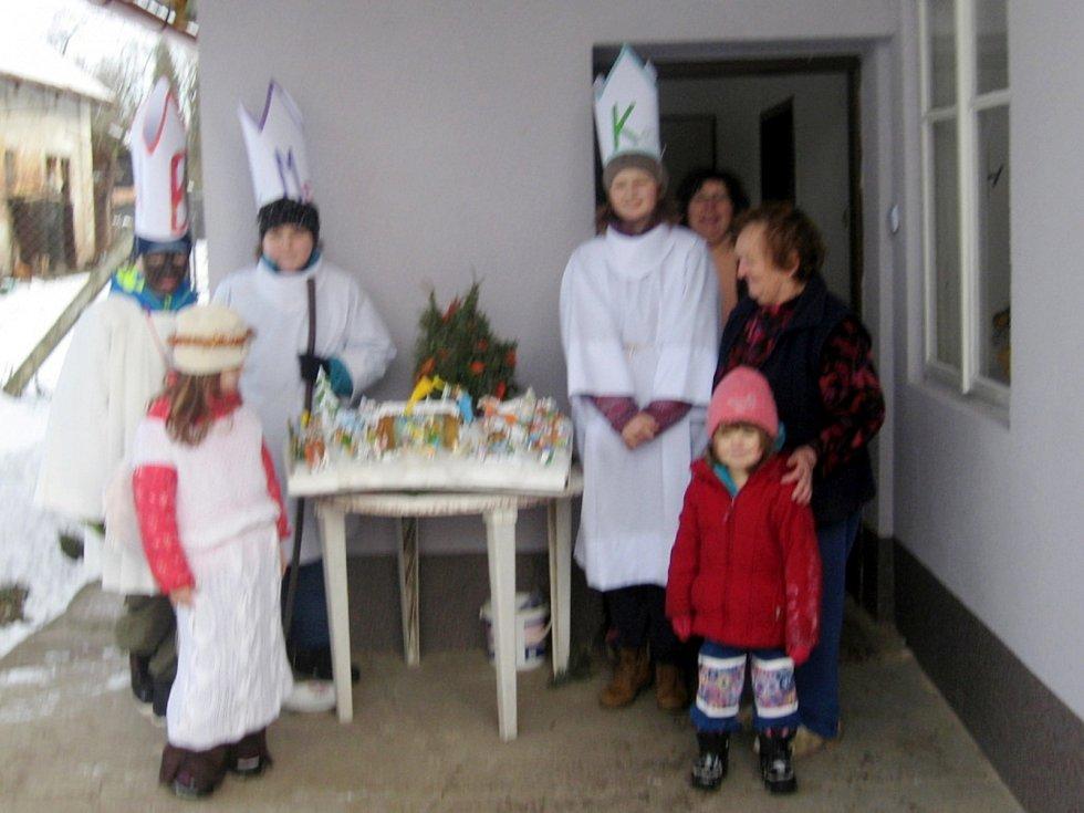 Tříkrálová sbírka v chlumecké místní části Krašov.