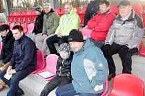 Sledování tréninkové jednotky fotbalistů FC Hradec Králové U17.