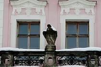 Historický dům U Špuláků na královéhradeckém Velkém náměstí prochází rekonstrukcí. Foceno 4. února 2010.