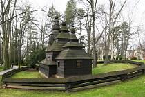 Pravoslavný kostelík v hradeckých Jiráskových sadech