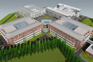 S - projekt Zlín: Univerzitní komlex v Hradci Králové. Vizualizace