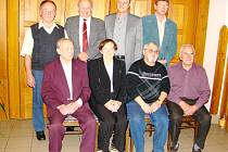 Osmička oceněných – zleva stojí: Jaroslav Myška, Karel Grulich, Josef Kopecký, Ladislav Tlučhoř; zleva sedí: Jaroslav Míchal, Radoslava Kozlovská, Miroslav Větrov, Pavel Kašpárek.