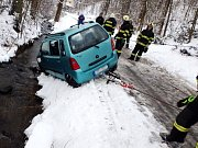 Havárie osobního automobilu v Choustníkově Hradišti.
