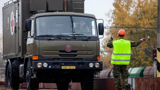 Příprava vojenských zdravotníků a ženistů k odjezdu na cvičení BLED 2015 do Slovinska.
