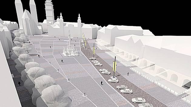 Plány na opravu hradeckého Velkého náměstí zůstávají zatím jen na papíře.