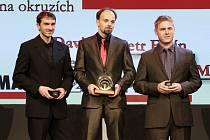Zleva David Vršecký, Petr Fulín a Michal Matějovský.