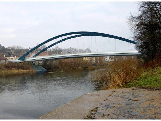 Vizualizace projektu nového mostu.