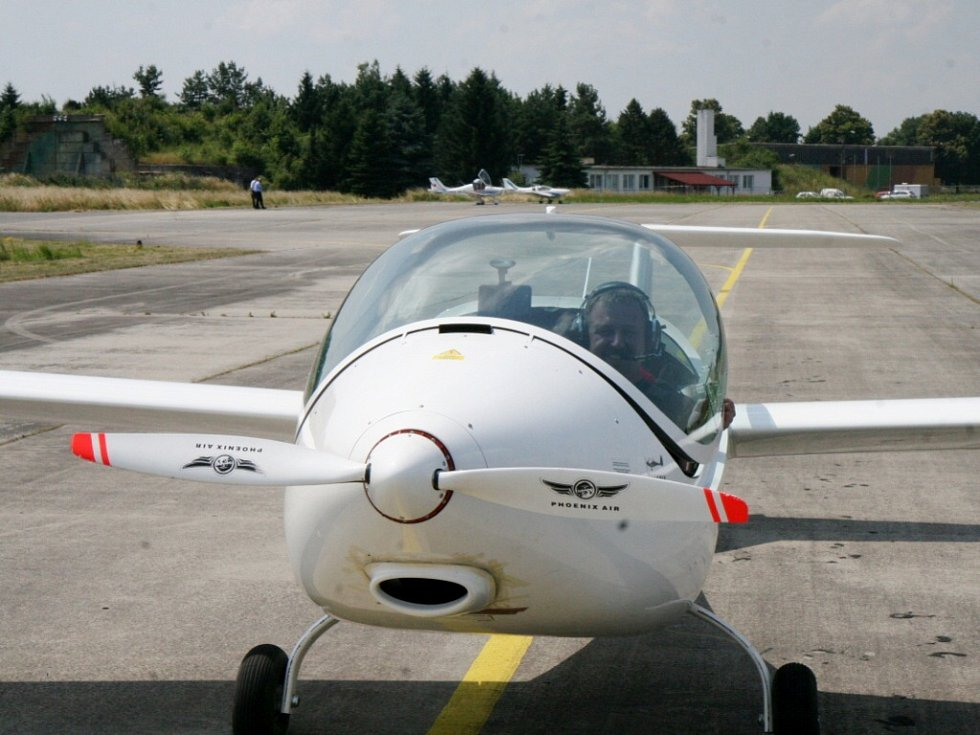 Prototyp letadla Pheonix poháněného elektromotorem.