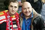 Spengler Cup 2017. Ve švýcarském Davosu se Vladimír Kovalčuk potkal s českou celebritou Michalem Davidem.