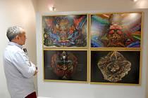 Výstava obrazů českého malíře a nekonvenčního výtvarníka Otto Plachta pod názvem Z druhého břehu v královéhradecké Galerii 123 na Slezském Předměstí.