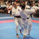 Mistrovství světa v karate v Hradci Králové.
