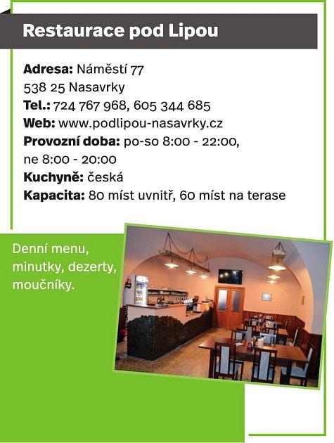 Restaurace pod Lipou, Nasavrky