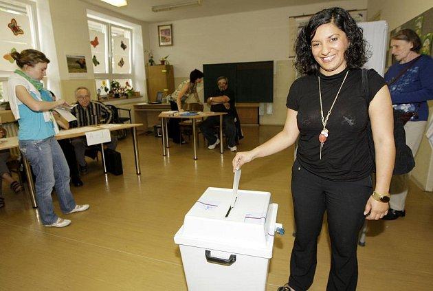 Lídři politických stran u voleb: Lucie Horváthová (SZ).