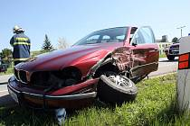 Dopravní  nehoda u Třebechovic v pondělí 28. dubna 2008