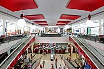 Nová část obchodního centra Futurum v Hradci Králové.