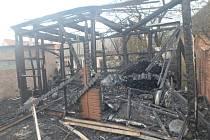 Zahradní domek lehl popelem, škoda je 220 tisíc korun.