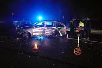 Dopravní nehoda dvou osobních vozidel u obce Lípa na silnici I/35 mezi Hradcem Králové a Hořicemi.