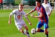 Juniorská liga ve fotbale: FC Hradec Králové - FC Viktoria Plzeň.