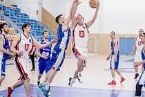 Basketbalové čtvrtfinále play off: Královští sokoli – JBC mmcité Brno.