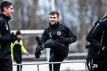 Zimní trénink fotbalistů FC Hradec Králové.